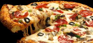 Auch eine Pizza darf man essen